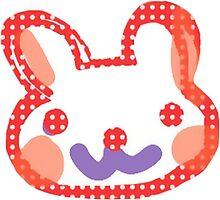 Polka Dot Bunny Rabbit by mihmnop