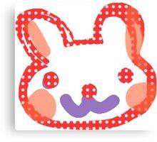Polka Dot Bunny Rabbit Canvas Print