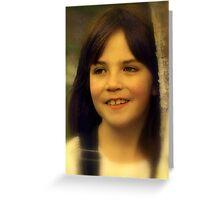 """Portrait of Aliyah ...."" Greeting Card"