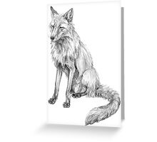Sitting fox illustration Greeting Card