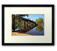 Moama Echuca Bridge - Murray River Framed Print