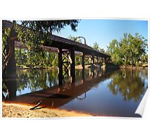 Moama Echuca Bridge - Murray River Poster