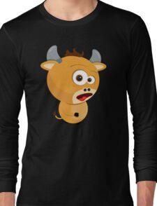 Cartoon Ox Long Sleeve T-Shirt