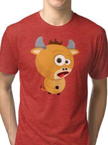 Cartoon Ox Tri-blend T-Shirt