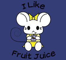 I Like Fruit Juice -- Lemon Yellow Women's Fitted V-Neck T-Shirt