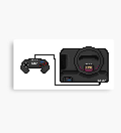 Sega Mega Drive - a true pixel classic! Canvas Print