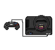 Sega Mega Drive - a true pixel classic! Photographic Print