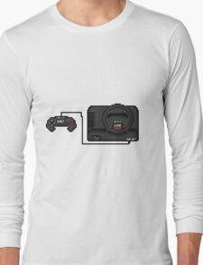 Sega Mega Drive - a true pixel classic! Long Sleeve T-Shirt