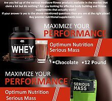 Optimum Nutrition Serious Mass | Infographic by smithdiana594