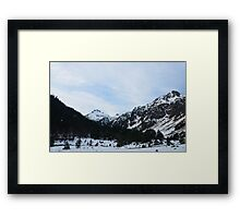 Passing Through the Mountains Framed Print