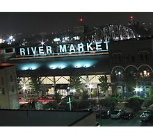 Night at the River Market Photographic Print