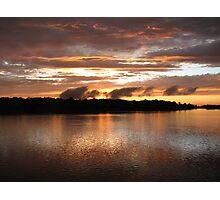 Setting Sun on the Arkansas River Photographic Print