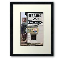 Brains 25 cents Framed Print