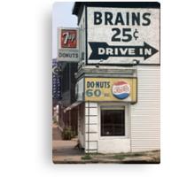 Brains 25 cents Canvas Print