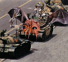 """""""Tiananmen Robots.........alternate reality distortion"""" by atomikboy"""