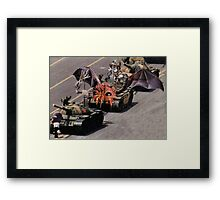 """Tiananmen Robots.........alternate reality distortion"" Framed Print"