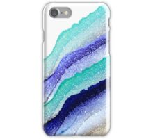 AQUA BLUE TO GOLD iPhone Case/Skin