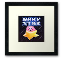 Kirby Warp Star Framed Print