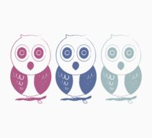 Pastel owl stamp  by teegs