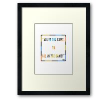 The Wire - Omar Framed Print