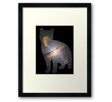 Cat Space Framed Print