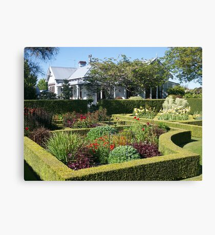Upton Oaks, Garden, Blenheim,NZ. Canvas Print