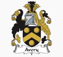 Coat of arms (family crest) for last-name or surname Avery . Heraldry banner for your name. by rita24