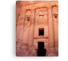 Urn Tomb - Petra, Jordan Canvas Print