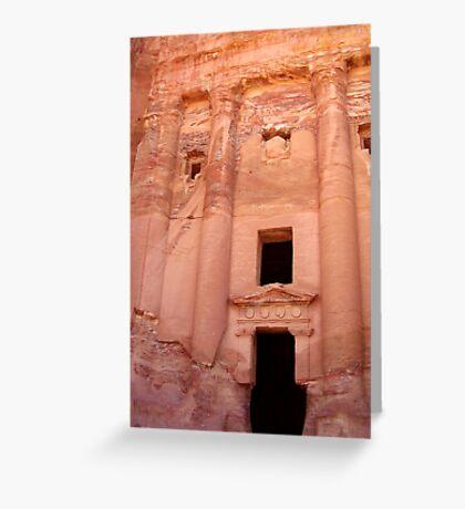 Urn Tomb - Petra, Jordan Greeting Card
