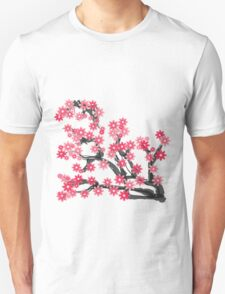 The Bloom of Cherry Blossoms Unisex T-Shirt