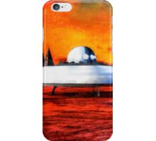 UFO On Ancient Planet by Raphael Terra iPhone Case/Skin