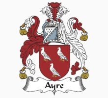 Coat of arms (family crest) for last-name or surname Ayre . Heraldry banner for your name. by rita24