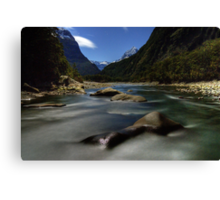 Night Time Photography, Milford Sound Canvas Print