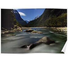 Night Time Photography, Milford Sound Poster