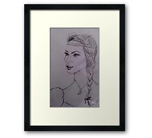 Wild Feather Lady Framed Print
