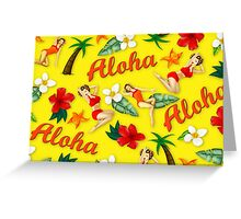 ALOHA HAWAII PIN UP Greeting Card