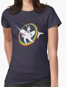 Narwhal Rainbow Stormtrooper Womens Fitted T-Shirt