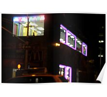 Late Night - Downtown Manhattan Poster
