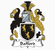 Coat of arms (family crest) for last-name or surname Bafford . Heraldry banner for your name. by rita24