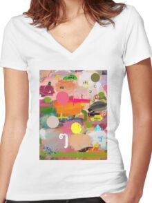 messages 013 Women's Fitted V-Neck T-Shirt