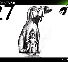 November 27 - A big friend by 365 Notepads -  School of Faces