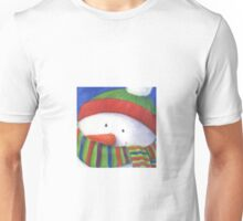 Cute Christmas Snowman with scarf Unisex T-Shirt