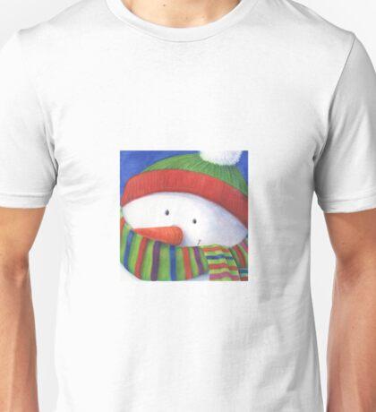 Cute Christmas Snowman with scarf Unisex T-Shirt