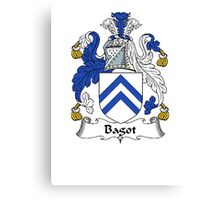 Coat of arms (family crest) for last-name or surname Bagott . Heraldry banner for your name. Canvas Print