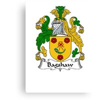 Coat of arms (family crest) for last-name or surname Bagshaw . Heraldry banner for your name. Canvas Print