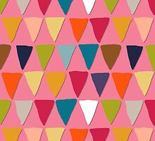 bunting pink by Sharon Turner