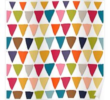 bunting white Poster