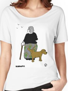 Rex takes a leak. Women's Relaxed Fit T-Shirt