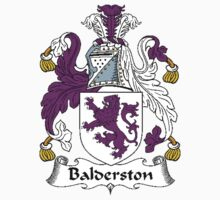 Coat of arms (family crest) for last-name or surname Balderston . Heraldry banner for your name. by rita24