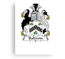 Coat of arms (family crest) for last-name or surname Baldwin (1662) . Heraldry banner for your name. Canvas Print